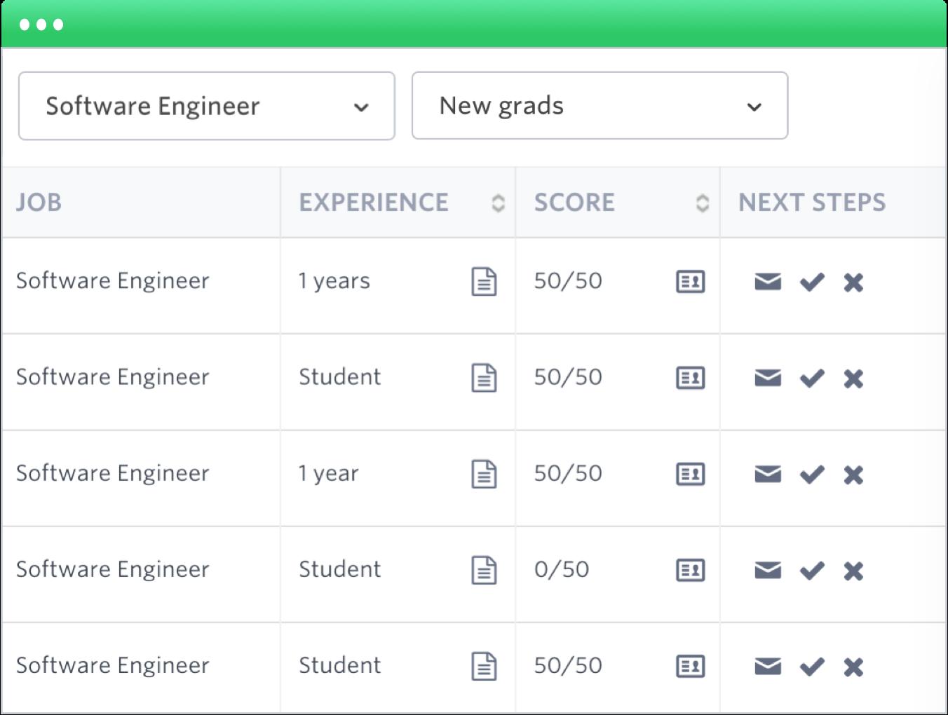 Jobs screenshot